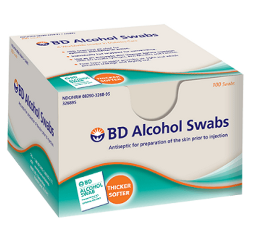 BD Alcohol Swabs | Alcohol Wipes | UPC 382903269105