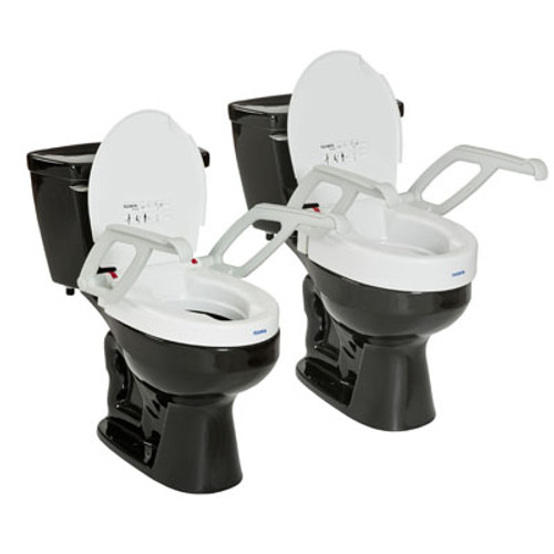 Invacare Aquatec Toilet Seat Raiser with Armrest and Lid - AT90000   UPC 9153651992