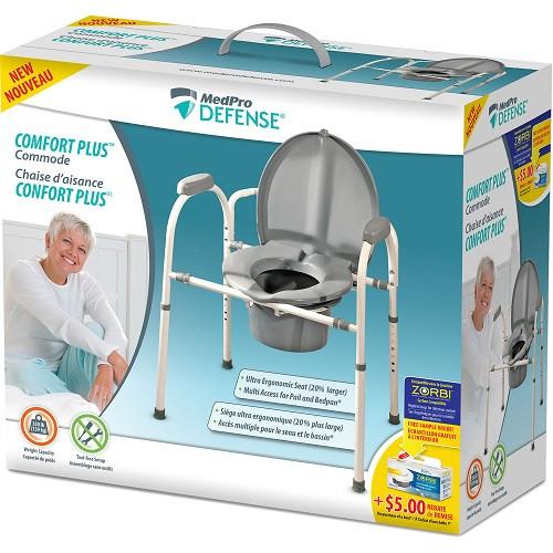 MedPro Defense Comfort Plus Commode box   UPC 775757703176