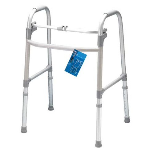 Carex Single Button Folding Walker without wheels | UPC 023601085702