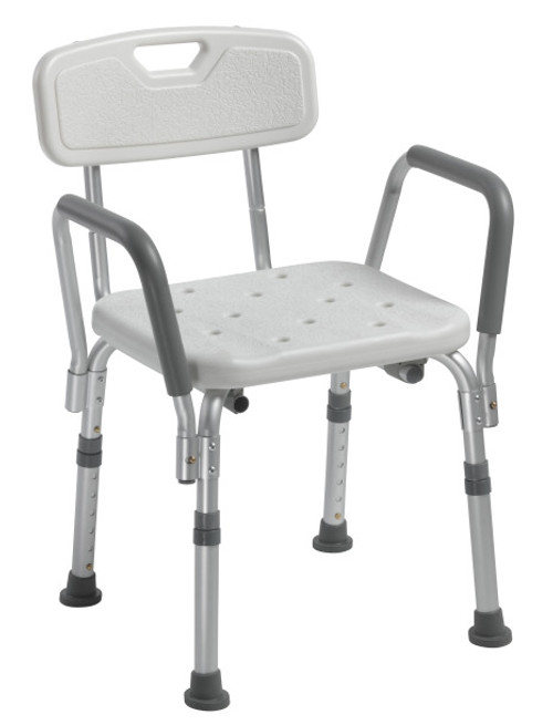 Drive Medical Bath Bench with Back and Arms | UPC 822383560038