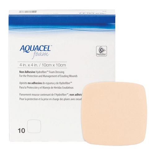 ConvaTec Aquacel Foam Dressing - Non Adhesive (10cm x 10cm) | UPC 768455123360
