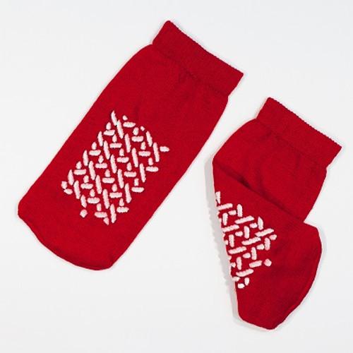 Dynarex Double Tread Non-Slip Socks - Small Red 2190