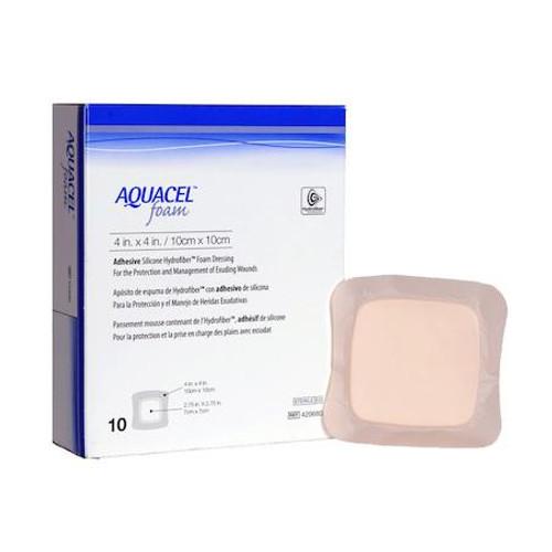 ConvaTec Aquacel Foam Dressing - Adhesive (10cm x 10cm) | UPC 768455127122