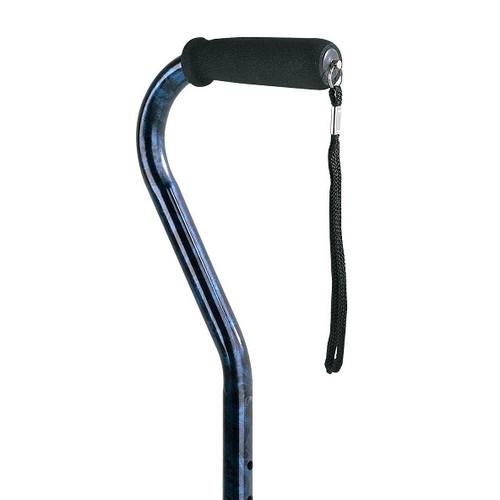 Carex Designer Offset Cane - Blue   UPC 023601005151  CAR-A51500