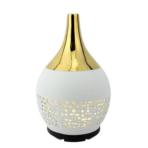 Relaxus Ceramic Gold Diffuser | 517115 | UPC 628949071150