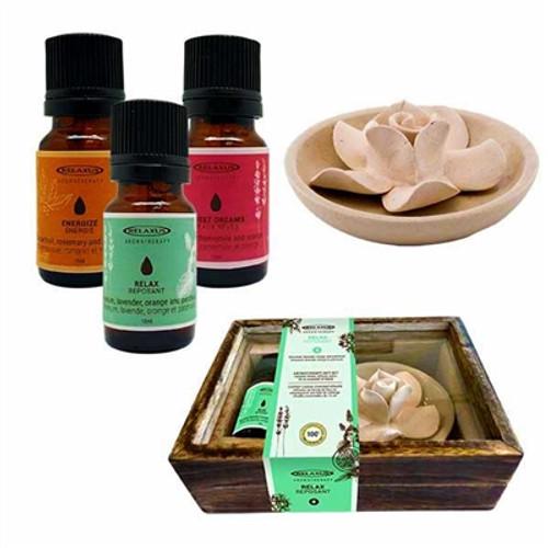 Relaxus Essential Oil and Ceramic Diffuser Gift Set - 508824, 508825, 508826, 628949088240, 628949088257, 628949088264
