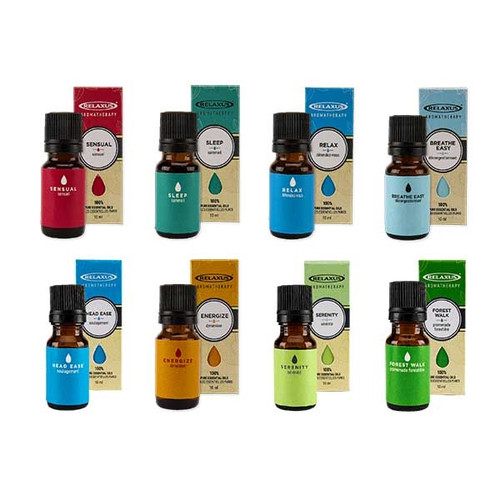 Relaxus Aromatherapy Essential Oil Blends | UPC 628949041429, 628949041344, 628949041320, 628949041412, 628949041382, 628949041450, 628949041405, 628949041399, 628949041337, 628949041306, 628949041313, 628949041375, 628949041351, 628949041436, 628949041443 | SKU: REL-514144, REL-514143, REL-514135, REL-514137, REL-514131, REL-514130, REL-514133, REL-514139, REL-514140, REL-514145, REL-514138,  REL-514141, REL-514132, REL-514134, REL-514142