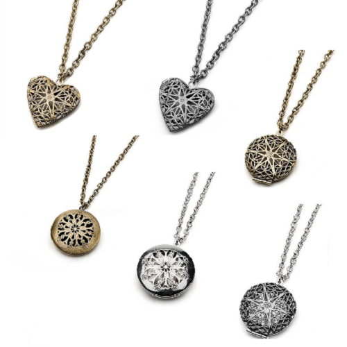 Relaxus Essential Oil Diffuser Necklaces - Locket | 504631, 504604, 504629, 504602, 504627, 504600