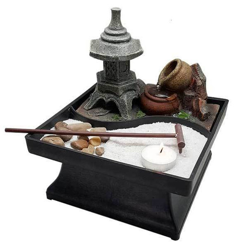 Relaxus Pagoda Garden Indoor Water Fountain |  SKU: 700471 | UPC 628949004714