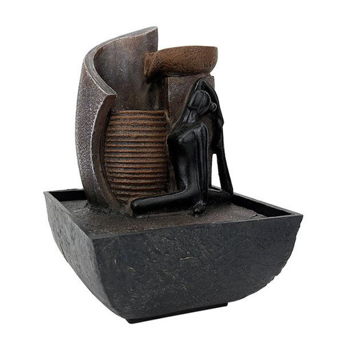 Relaxus Mini Yogi Zen Indoor Water Fountain | SKU: 700352 | UPC 628949103523