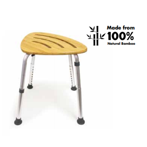 Bios Medical Bamboo Bath Stool 60061 | UPC 057475600617