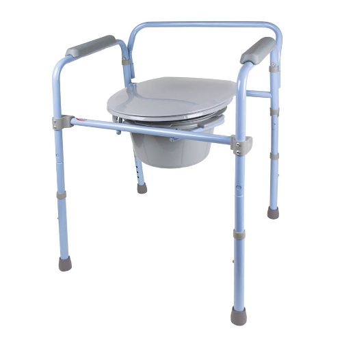 Carex Deluxe Folding Commode FGB341CA | UPC 627394023417