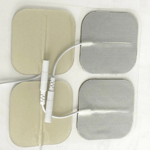 "StimTec Silver Grid Clinical Use 2"" Electrodes - Tricot Backing 4pack | TVD-48SSP | UPC 813520012657 | STIM-GR5050B"