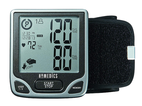 HoMedics Deluxe Automatic Wrist Blood Pressure Monitor - Dual user/120 memories | BPW-720-CA | UPC 031262059024