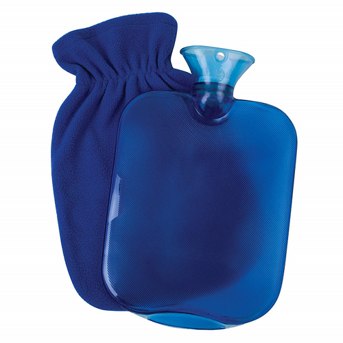 Carex Hot Water Bottle With Fleece Cover   FGP09400   UPC 023601030948