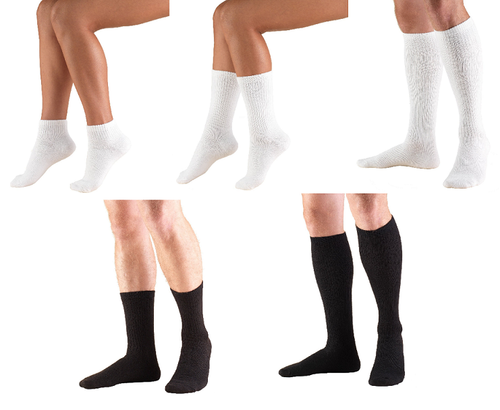 Airway Surgical Truform Diabetic & Compression Socks - white, black, ankle length, mid calf length, knee high length - 1911, 1912, 1913 | UPC 048503491116, 048503491123, 048503491130, 048503491154, 048503491161, 048503491215, 048503491222, 048503491239, 048503491253, 048503491260, 048503291211, 048503291228, 048503291235, 048503291259, 048503291266, 048503491314, 048503491321, 048503491338, 048503491352, 048503491369, 048503291310, 048503291327, 048503291334, 048503291358, 048503291365