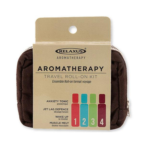 Relaxus Aromatherapy Travel Roll-on Kit | UPC 628949186502