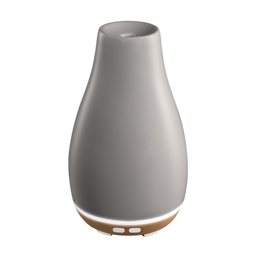 Ellia by HoMedics Blossom Ultrasonic Aroma Diffuser | Grey | 031262072702