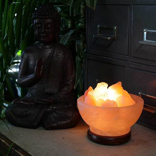 Relaxus Bowl of Fire Himalayan Salt Lamp| REL-L015 | UPC 628949001591