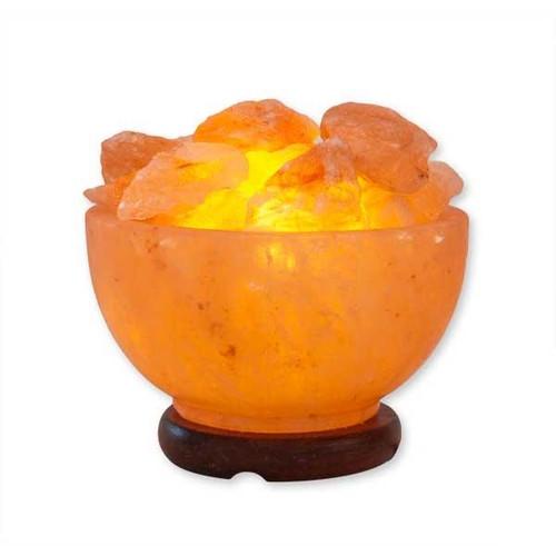 Relaxus Bowl of Fire Himalayan Salt Lamp | REL-L015 | UPC 628949001591