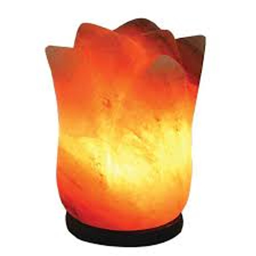 Relaxus Himalayan Salt Lamp Lotus Flower | 503808 | UPC 628949038085