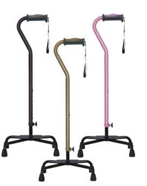 Hugo Ergonomic Quad Cane -Large Base | HUG-731-840 | HUG- 731-842 | HUG-731-844 | 754021210190 | 754021210206 | 754021210213