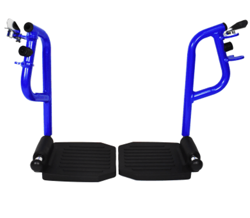 Invacare Great Big Wheel Aluminum Transport Chair - Blue Replacement Footrests