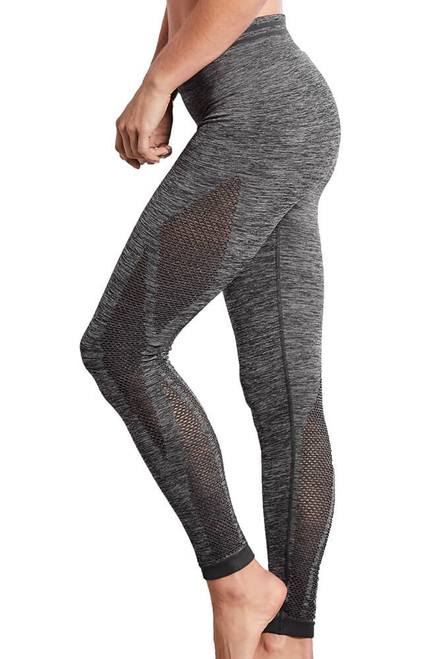 Amoena Seamless Melange Sport Pant Leggings Grey Melange   44582   4026275365251, 4026275365244