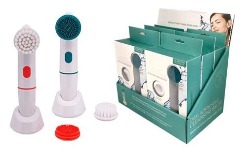 Relaxus Dual Action Sonic Cleansing Brush | REL-544650, REL-544652