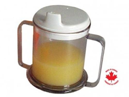 Parsons Double Handled Mug With Lid | PAR-16T123