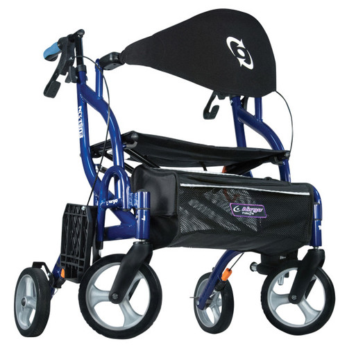 Drive Medical Airgo Fusion F20 Side-Folding Rollator & Transport Chair Pacific Blue | DRI-700-935 | 754021213061