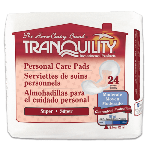 Tranquility Personal Care Pads | 070319023809 | 070319023816 | 070319023823 | 070319023806 | 070319023813 | 070319023820