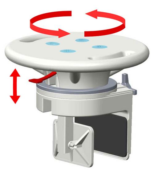 Mobb Rotating Bathtub Seat With Assisting Handle -  MOB-MHRBS
