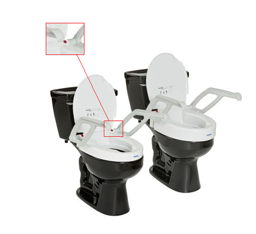 Invacare Toilet Seat Raiser with Armrest and Lid - A90000 REPLACEMENT PIECE -  INV-70162