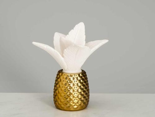 Ellia by HoMedics Palm Queen Porcelain Aroma Diffuser | SKU: ELL-ARM-P155-GD-E014 | UPC ARM-P155-GD-E014