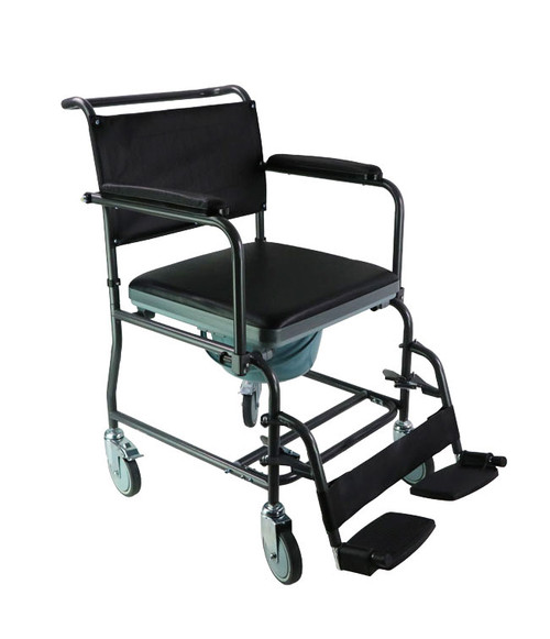 MOBB Mobile Steel Commode with Wheels | MOB-MHSCMW | 844604100335