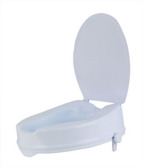 """Mobb Raised Toilet Seat with Lid 2"""" and 4"""" 