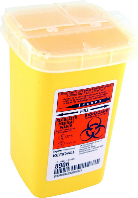 Kendall Phlebotomy Sharps Container 1QT