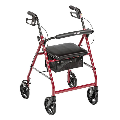 "Drive Medical Aluminum Rollator with 7.5"" Wheels 