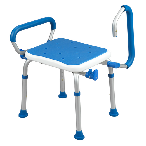 Airway Surgical Adjustable Padded Bath Safety Seat with Swing Away Arms -  AWS-7106
