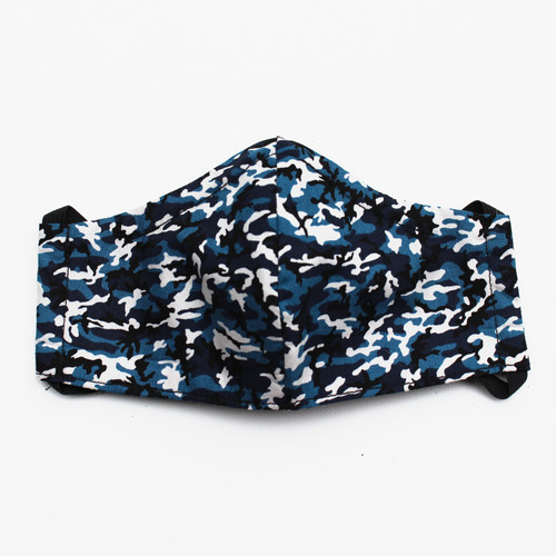 Ortho Active Cloth Face Masks for Kids - 2-Pack   Blue Camo