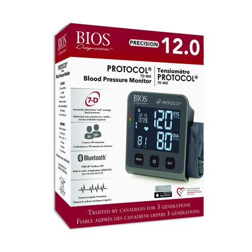 BIOS Medical BIOS Diagnostics Precision 12.0 Protocol 7D MII Blood Pressure Monitor with App | BD252| 057475242527