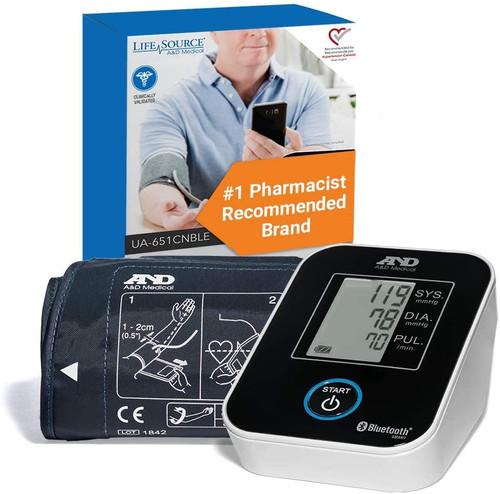 LifeSource Wireless Blood Pressure Monitor -  LFS-UA-651CNBLE