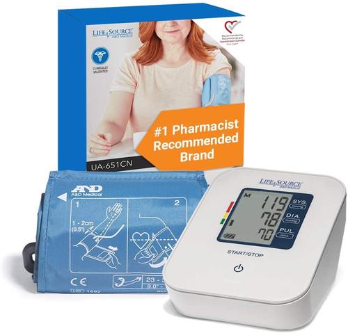 LifeSource Easy One Step Blood Pressure Monitor | UA-651CN | 093764603136