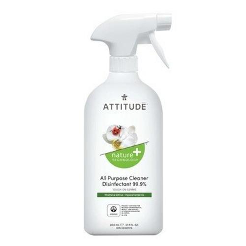 Attitude Nature+ All Purpose Cleaner Disinfectant Spray Thyme & Citrus 800 ml -  ATD-1018-001