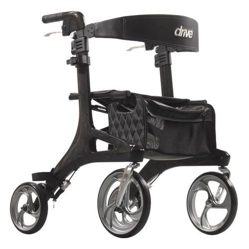 Drive Medical Nitro Elite CF - Carbon Fiber Rollator Black | 822383576817