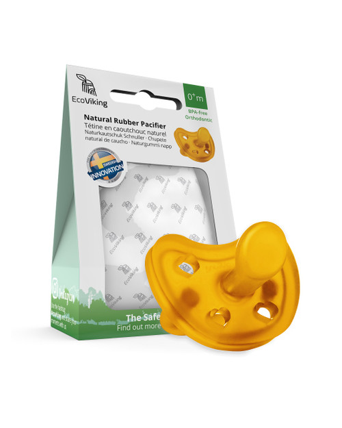EcoViking Natural Rubber Pacifier - Orthodontic | 7340151700385 | 7340151700392