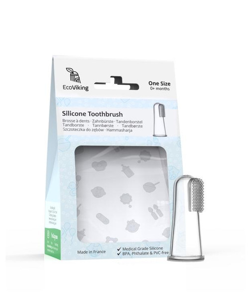 EcoViking Silicone Baby Toothbrush One Size (0+ Months) | 7340151700453