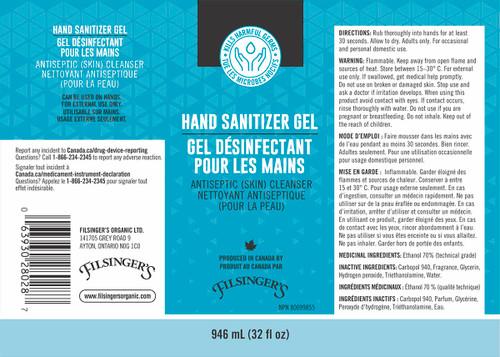 Filsinger's Organic Foods Hand Sanitizer Gel 500ml | 063930280058
